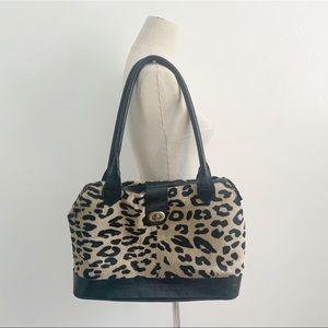Vintage Leather Leopard Bag